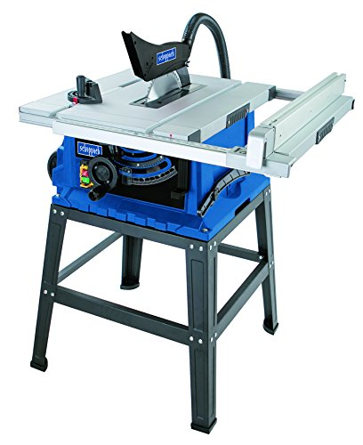 Scheppach Profi Tischkreissäge HS105 (2000W, Sägeblatt Ø 255mm, Schnitthöhe 75mm, Tischgröße mit Verbreiterung 640 x 920 mm, hochwertig, robust) inkl. Untergestell